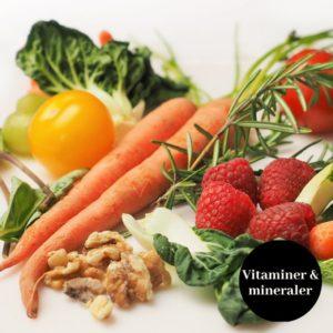 Vitaminer/mineraler